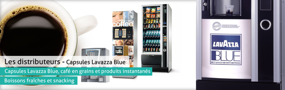 Distributeurs automatiques à capsules lavazza blue
